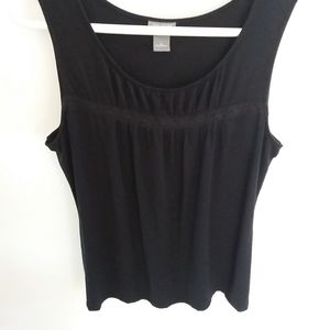 Ann Taylor Pleated Front Sleeveless Tank Top